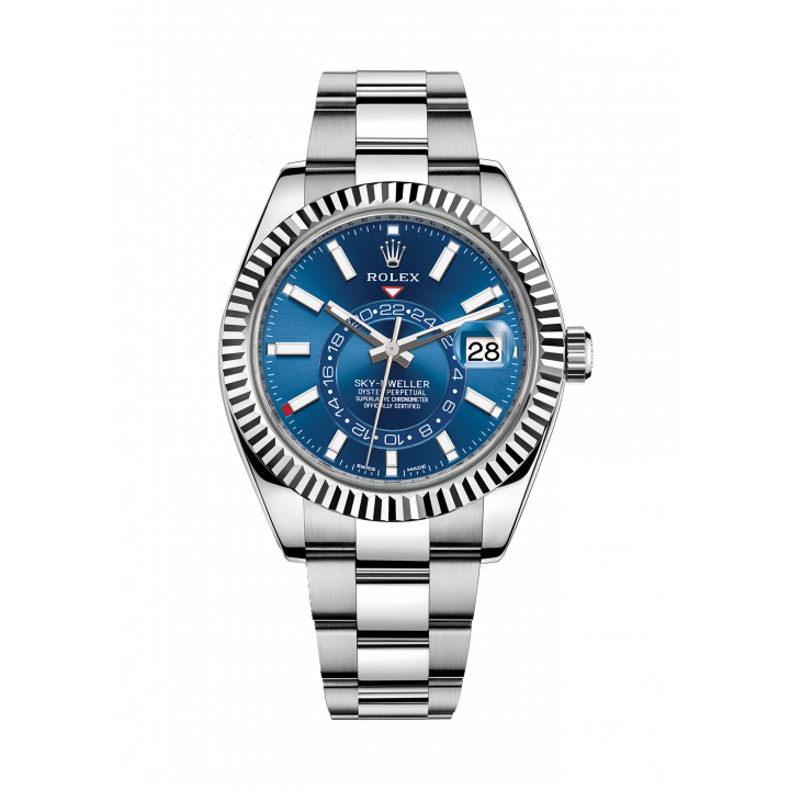 SKY-DWELLER 42MM STEEL AND WHITE GOLD